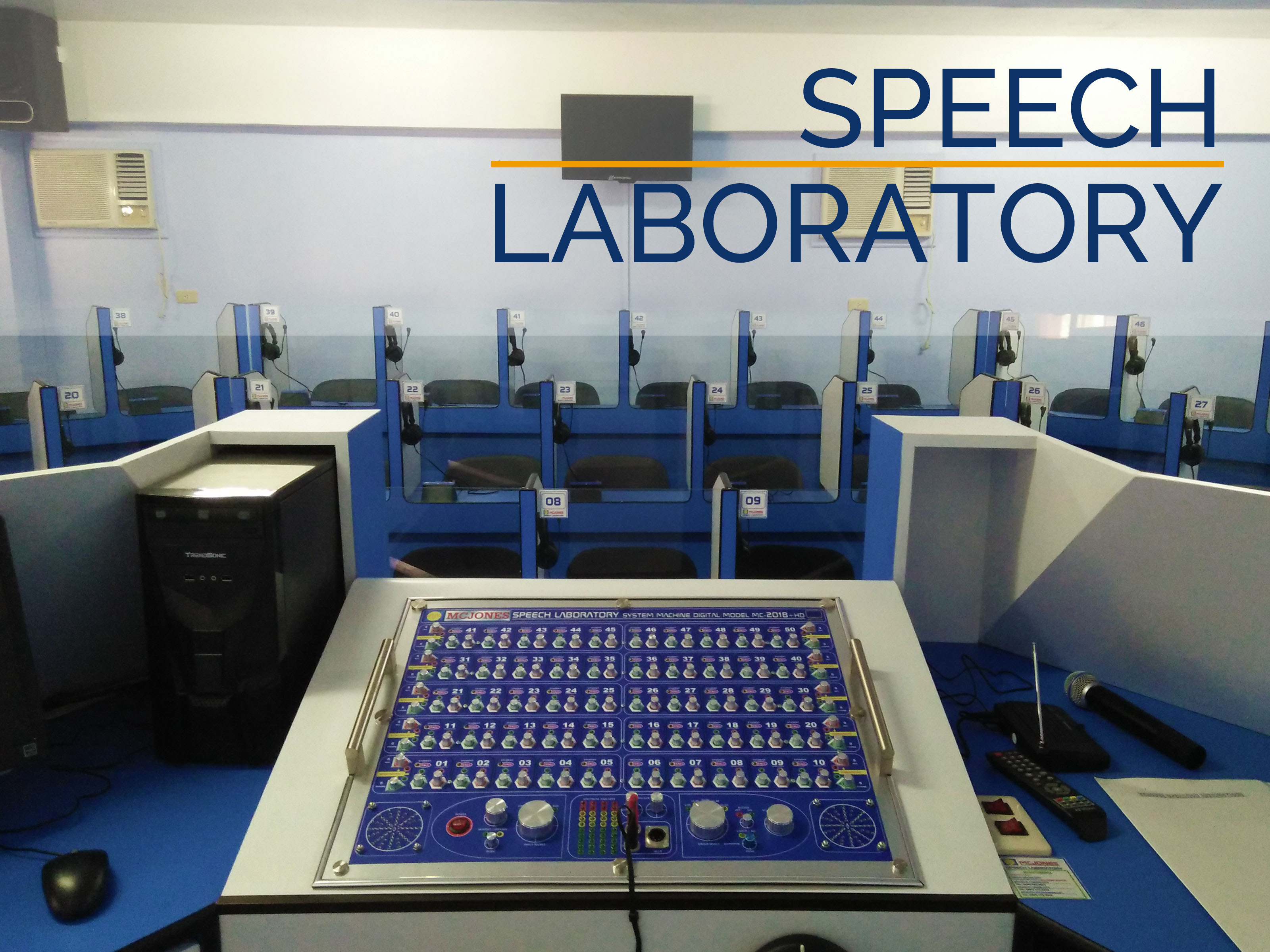 Our new Speech Laboratory boosts student confidence in oral communication.